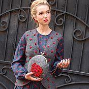 """Одежда ручной работы. Ярмарка Мастеров - ручная работа Жилет""""Розы красные"""". Handmade."""