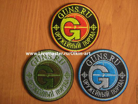 Нашивка `Ганза GUNS.RU` (красный / камуфляж / синий) Машинная вышивка. Белорецкие нашивки. Нашивка. Шеврон. Патч. Вышивка. Шевроны.  Патчи. Нашивки. Купить нашивку.