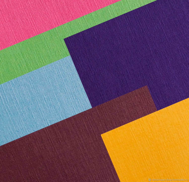 Эфалин с тиснением Лён, 120 гр/м2 разные цвета, Бумага, Москва,  Фото №1