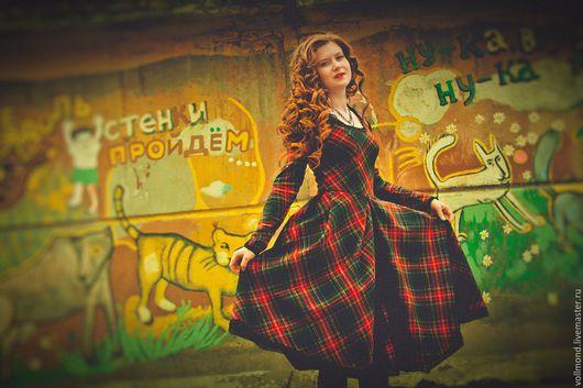 Платья ручной работы. Ярмарка Мастеров - ручная работа. Купить Платье Шотландская осень. Handmade. В клеточку, клетчатое платье