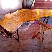 """Для дома и интерьера ручной работы. Ярмарка Мастеров - ручная работа Стол """"Янтарный""""из слэба дерева.Ручная авторская работа. Handmade."""