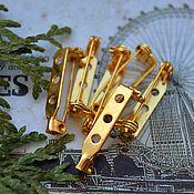 Материалы для творчества handmade. Livemaster - original item Basis for brooches 27h5h7 mm Gold. Handmade.