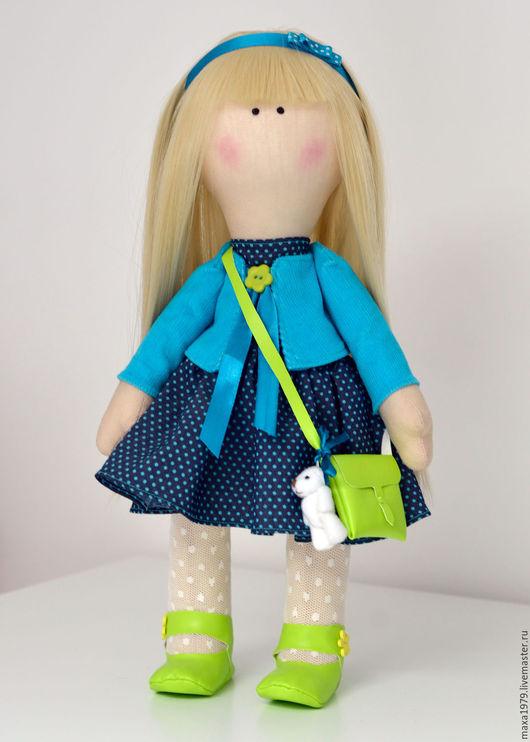 Куклы тыквоголовки ручной работы. Ярмарка Мастеров - ручная работа. Купить Интерьерная кукла. Handmade. Бирюзовый, интерьер, кукла в подарок