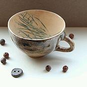 Посуда ручной работы. Ярмарка Мастеров - ручная работа Чашка Целебные Травы. Handmade.