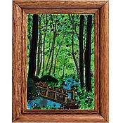 Для дома и интерьера ручной работы. Ярмарка Мастеров - ручная работа Картины из стекла Лес. Handmade.