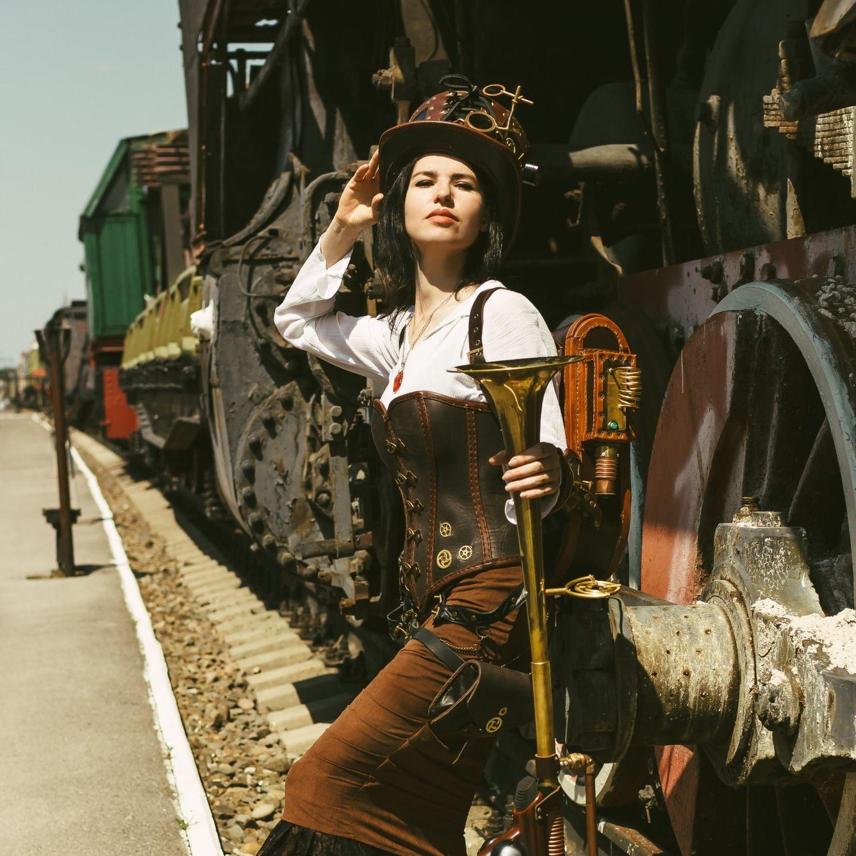 Стимпанк костюм, косплей, кожаные изделия, Костюмы для кослпея, Москва,  Фото №1