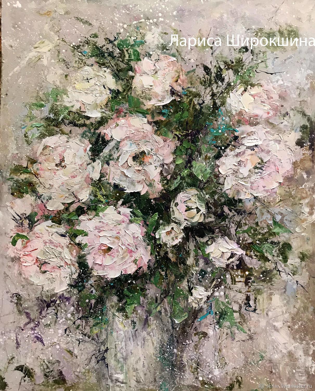 """Картины цветов ручной работы. Ярмарка Мастеров - ручная работа. Купить """"Апрельские розы""""  картина маслом. Handmade. Цветы"""