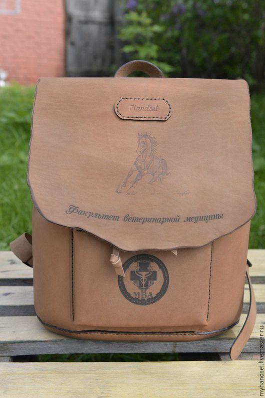 Рюкзак по индивидуальному заказу/ кожа быка/ исключительно ручная работа/Приглашаем Вас в гости vk.com/myhandsel
