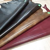 Кожа ручной работы. Ярмарка Мастеров - ручная работа Tamponatа - 0,7-1,2 мм - Итальянская телячья кожа ручного крашения. Handmade.