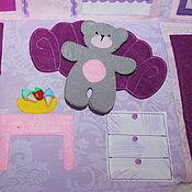 Куклы и игрушки ручной работы. Ярмарка Мастеров - ручная работа Сумка-дом сиреневая, дом для кукол, текстильный домик. Handmade.