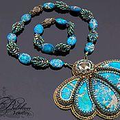 Necklace handmade. Livemaster - original item Pendant convertible with Jasper. Handmade.