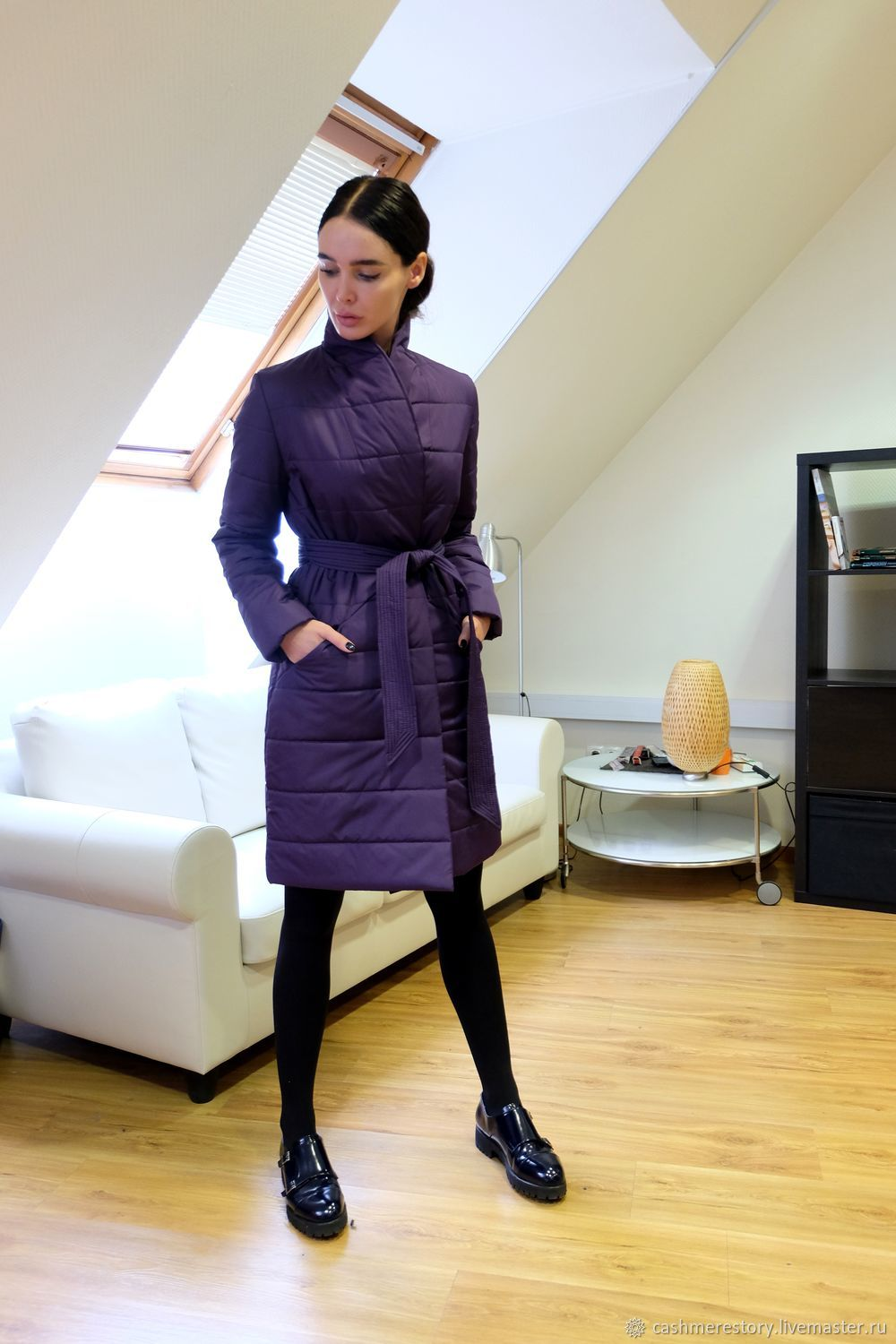 Women's insulated coat Wine Rose, Coats, Moscow,  Фото №1
