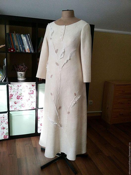 Платья ручной работы. Ярмарка Мастеров - ручная работа. Купить Платье Белое теплое 2. Handmade. Белый, натуральные материалы