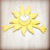 Мягкие игрушки ручной работы. Ярмарка Мастеров - ручная работа Игрушки: Солнышко. Handmade.