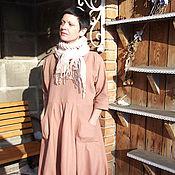 """Одежда ручной работы. Ярмарка Мастеров - ручная работа Платье """"Парижские тайны""""(бохо,лён). Handmade."""