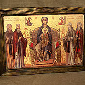 Картины и панно handmade. Livemaster - original item Icons: Icon of the mother of God with upcoming. Handmade.