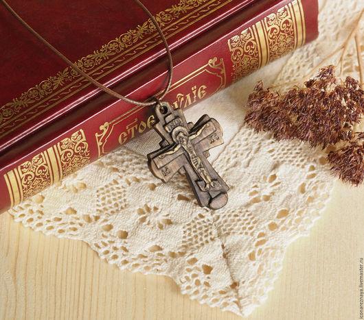 `Искоростень`деревянный нательный крест-распятие. Крест из дерева. Крест резной. Крест деревянный.