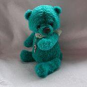 Куклы и игрушки ручной работы. Ярмарка Мастеров - ручная работа Бирюзовый медвежонок. Handmade.