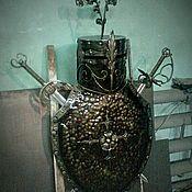 """Картины и панно ручной работы. Ярмарка Мастеров - ручная работа Панно """"Рыцарь"""" (Щит, Меч, Шлем). Handmade."""
