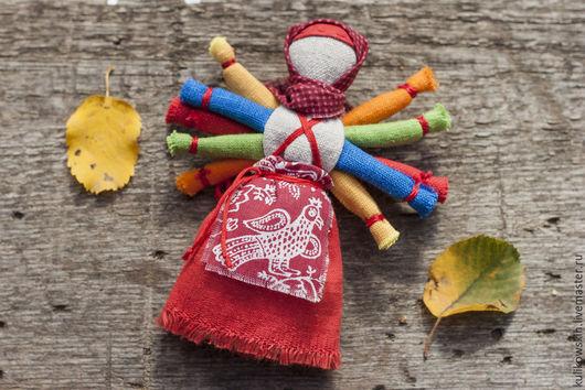 Народные куклы ручной работы. Ярмарка Мастеров - ручная работа. Купить Кукла народная десятиручка Радуга. Handmade. Разноцветный, домоткань