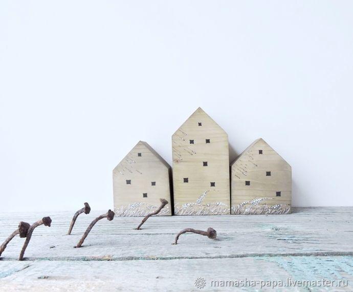 Ненастье - деревянные интерьерные домики с росписью, Скульптуры, Москва, Фото №1