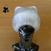 Аксессуары handmade. Livemaster - original item Fur hat women`s knitted lining made of mink fur . Art. GP-1. Handmade.