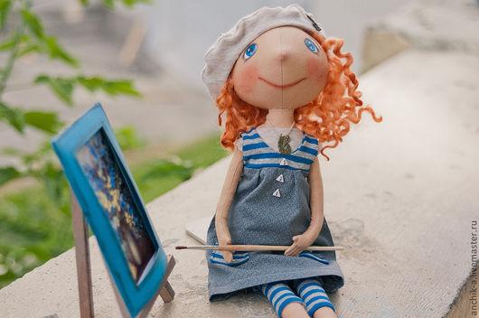 Коллекционные куклы ручной работы. Ярмарка Мастеров - ручная работа. Купить Люсиль. Handmade. Интерьерная кукла, художник, подарок художнику