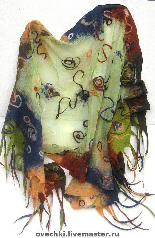 """Шали, палантины ручной работы. Ярмарка Мастеров - ручная работа. Купить Палантин """"АННУШКА"""". Handmade. Палантин, валяный шарф"""