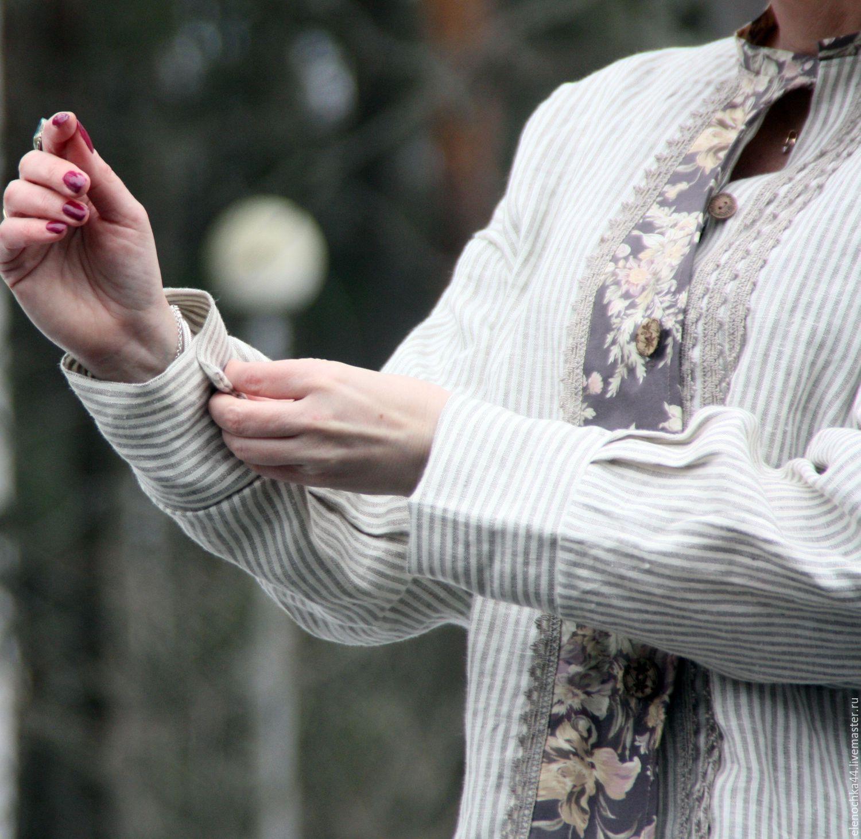 Блузки ручной работы. Ярмарка Мастеров - ручная работа. Купить Рубашка Льняная серая. Handmade. Весна, льняная одежда