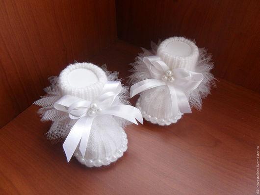 """Для новорожденных, ручной работы. Ярмарка Мастеров - ручная работа. Купить Пинетки """" Маленькая балерина"""". Handmade. Белый, балет"""