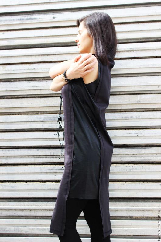Платья ручной работы. Ярмарка Мастеров - ручная работа. Купить Экстравагантное платье D0001. Handmade. Темно-серый, летнее платье