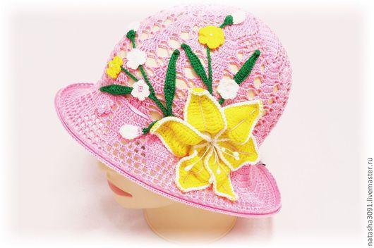 """Шапки и шарфы ручной работы. Ярмарка Мастеров - ручная работа. Купить Панама """"Летний букет"""". Handmade. Панама, шляпка для девочки"""
