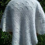 Аксессуары handmade. Livemaster - original item 4R. Down scarf, kerchief, warm coat, Cape on the shoulders, white. Handmade.
