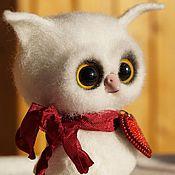 Куклы и игрушки ручной работы. Ярмарка Мастеров - ручная работа Войлочная игрушка Совёнок Валентин. Handmade.
