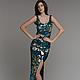 Платья ручной работы. Платье из пайеток двух цветов. DRESSLAB. Интернет-магазин Ярмарка Мастеров. Абстрактный, платье из пайеток