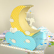 Работы для детей, ручной работы. Ярмарка Мастеров - ручная работа Мамины сокровища Сладкие сны картонаж. Handmade.