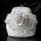 """Свадебный салон ручной работы. Ярмарка Мастеров - ручная работа Свадебная сумочка """"Белый цветок"""". Handmade."""