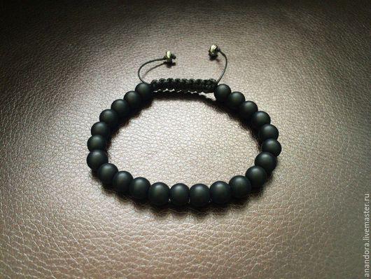 Браслет шамбала `Шахта` из натуральных камней