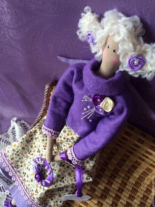 Куклы Тильды ручной работы. Ярмарка Мастеров - ручная работа. Купить Лавандовая фея. Handmade. Интерьерная кукла, фея тильда