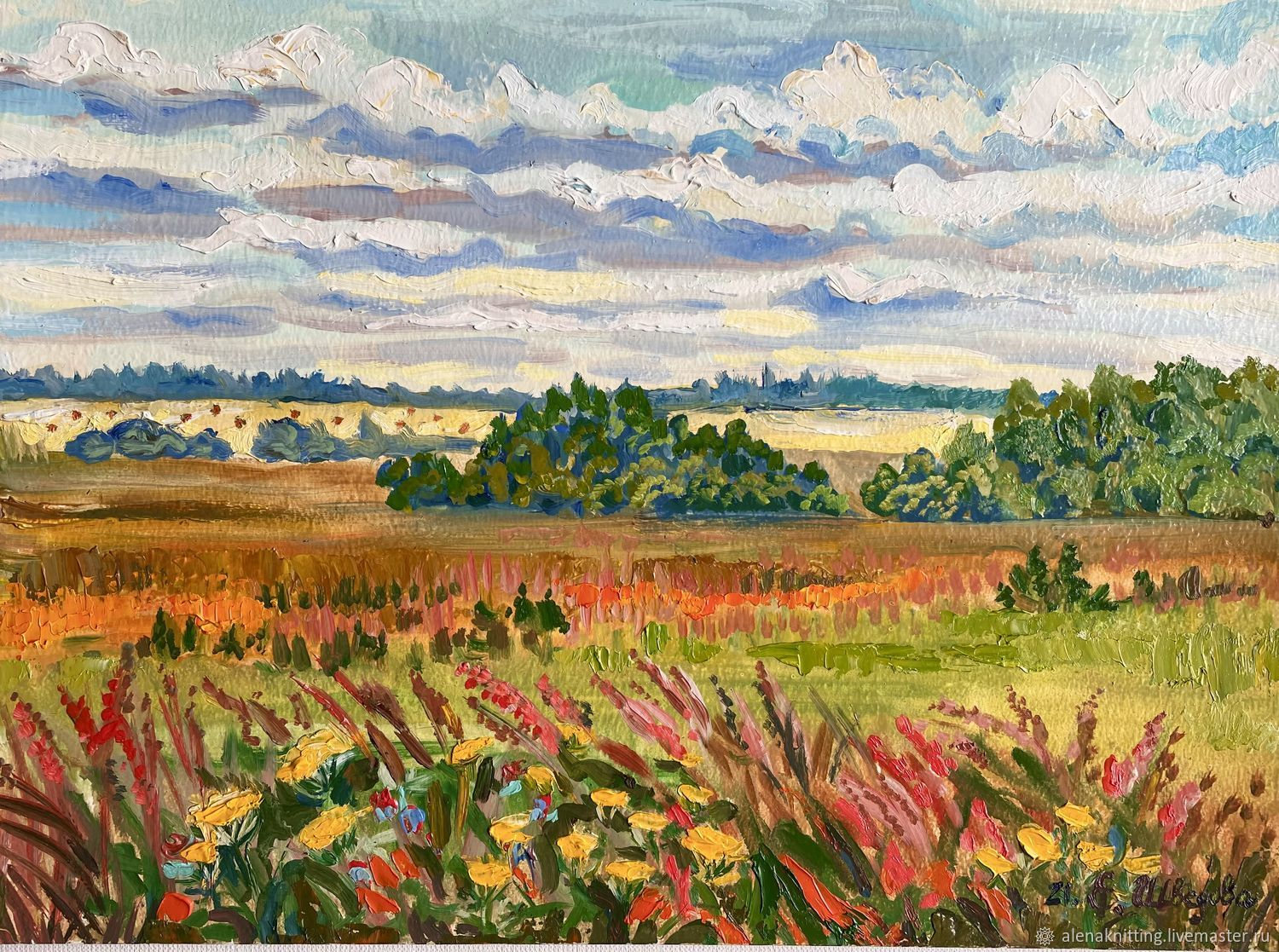 Oil painting Landscape ' Fields and meadow flowers', Pictures, Moscow,  Фото №1