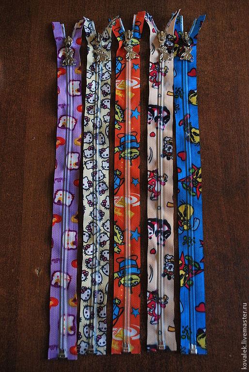 Шитье ручной работы. Ярмарка Мастеров - ручная работа. Купить Молния декоративная 40 см. Handmade. Молния, декоративная молния