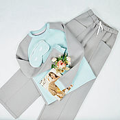 Одежда handmade. Livemaster - original item Sweatshirts trousers warm footer with fleece. Handmade.