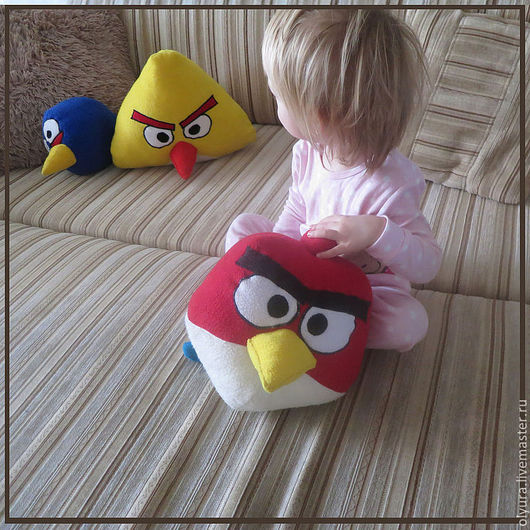 Сказочные персонажи ручной работы. Ярмарка Мастеров - ручная работа. Купить Angry Birds набор игрушек-подушек. Handmade. синий
