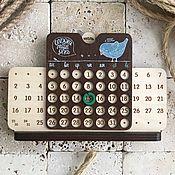 """Календари ручной работы. Ярмарка Мастеров - ручная работа Вечный календарь """"Птица счастья mini"""". Handmade."""