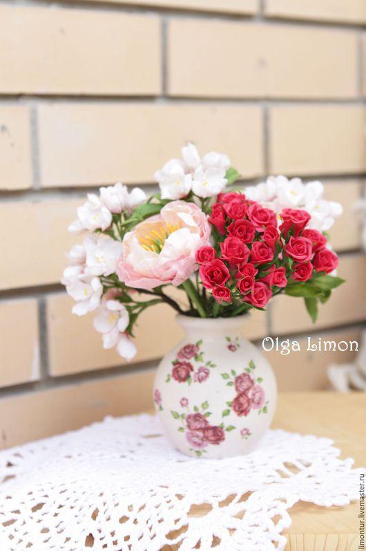 """Интерьерные композиции ручной работы. Ярмарка Мастеров - ручная работа. Купить Букет """"Воскресенье!"""". Handmade. Розовый, романтика, цветы яблони"""