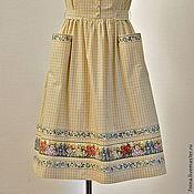 Одежда ручной работы. Ярмарка Мастеров - ручная работа Хлопковый  платье-сарафан для отдыха летом. Handmade.