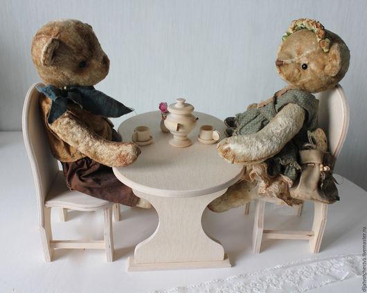 Кукольный дом ручной работы. Ярмарка Мастеров - ручная работа. Купить Стол для кукольного дома большой. Handmade. Бежевый, кукольная мебель