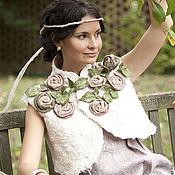 Одежда ручной работы. Ярмарка Мастеров - ручная работа болеро Розовый сад. Handmade.