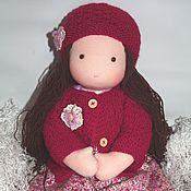 """Куклы и игрушки ручной работы. Ярмарка Мастеров - ручная работа Девочка """"Яркая брюнетка"""" вальдорфская 40-42 см. Handmade."""