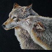Картины и панно ручной работы. Ярмарка Мастеров - ручная работа Поцелуй волка. Handmade.